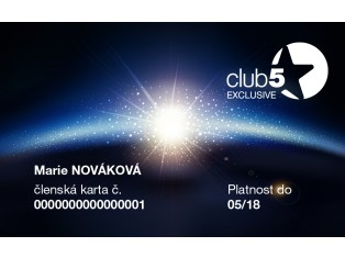 Club 5* Exclusive kartica Top Shop